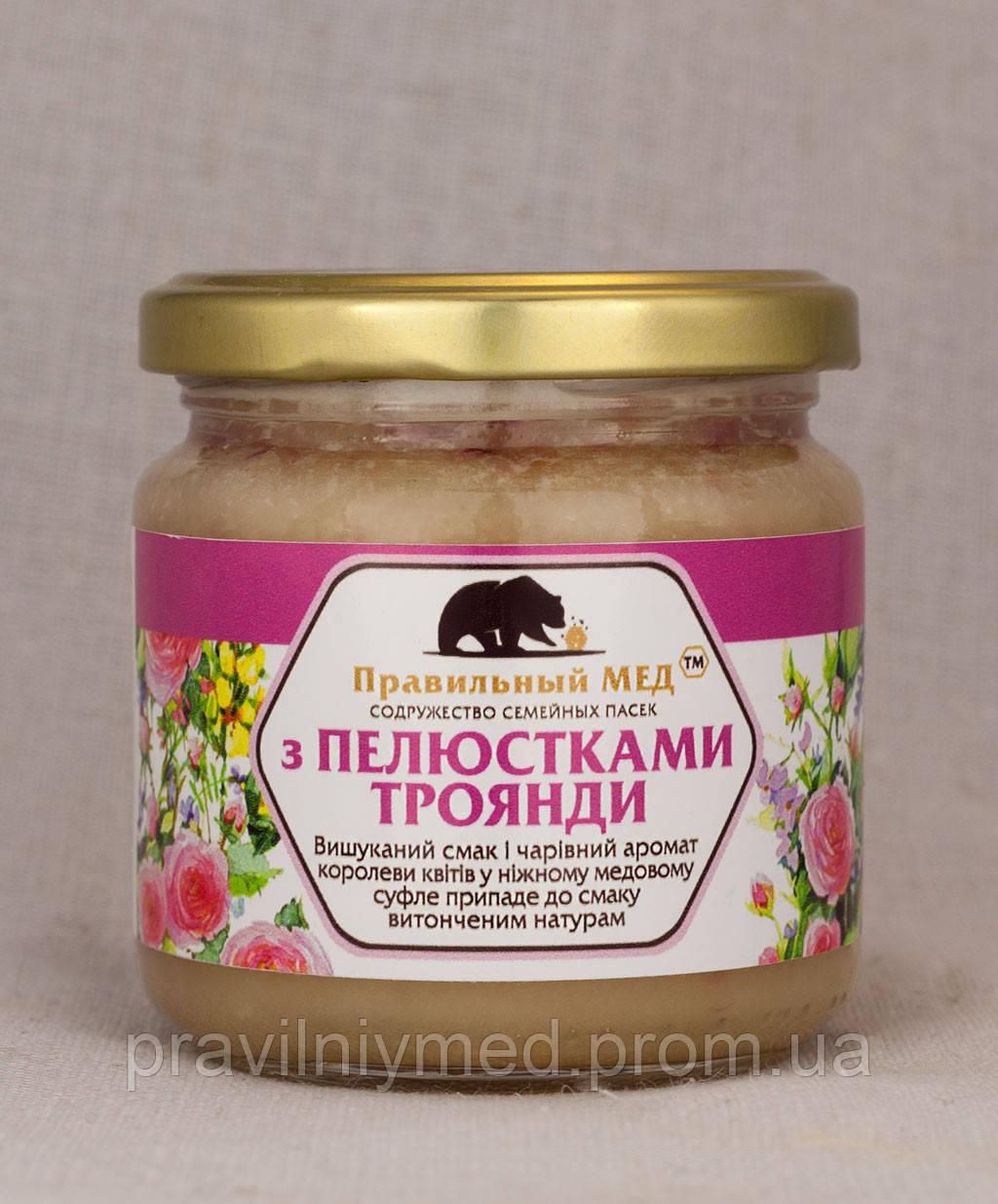 Мед с Лепестками Чайной Розы. Крем-Мед с Добавками. ТМ Правильный Мед