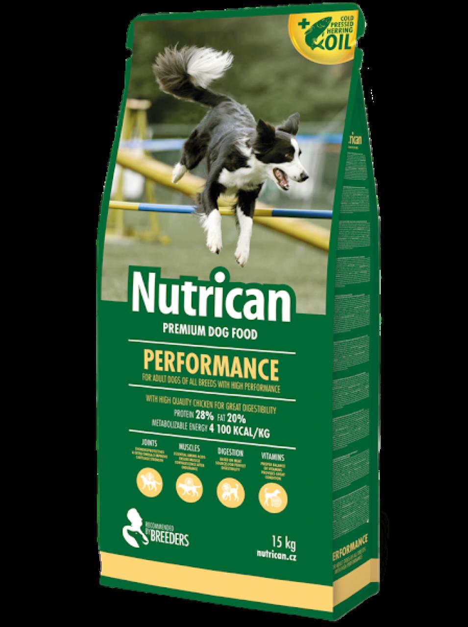 Сухой корм Nutrican Performance (для взрослых активных собак) 15кг