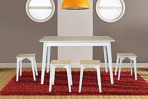 Обідній стіл Сингл (Білі ніжки)