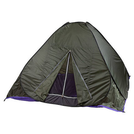 Палатка-автомат зеленая HX-8135 на 2 людей зеленая удобная самораскладывающаяся палатка, фото 2