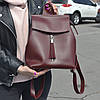 """Современный рюкзак-сумка (трансформер) """"Моби Red Wine"""", производство Украина"""