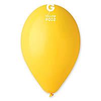 Шарики надувные Gemar 26см желтые 100шт/уп