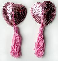 Прикраса для сосків пэстисы сердечка Notabu, рожеві