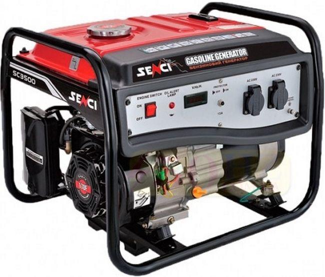 Генератор бензиновый SENCI SC3250-Е (2.5-2.8кВт), эл.с.