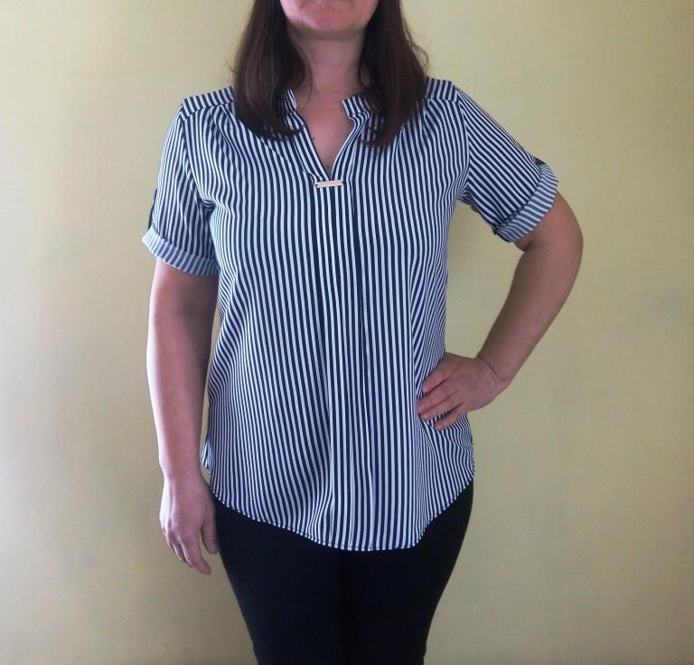 Блуза в полоску 48-56