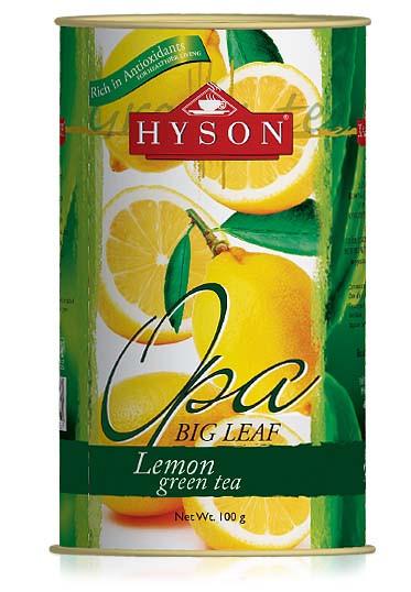 Чай зеленый листовой Hyson OPA Lemon Green Tea с апельсиновой цедрой 100 г ж/б