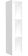 Полка навесная Delta DL-613 (256х310х1152мм) Белый базовый TM AMF, фото 2
