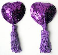 Прикраса для сосків пэстисы сердечка Notabu, фіолетові
