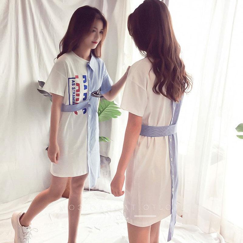 Женское платье-рубашка летние