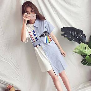 Женское платье-рубашка летние , фото 2