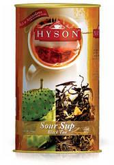 Чай чёрный крупнолистовой Hyson Sour Sup с кусочками саусепа 100 г в жестяной банке