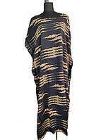 Туника - платье длинная большой размер темное C0146