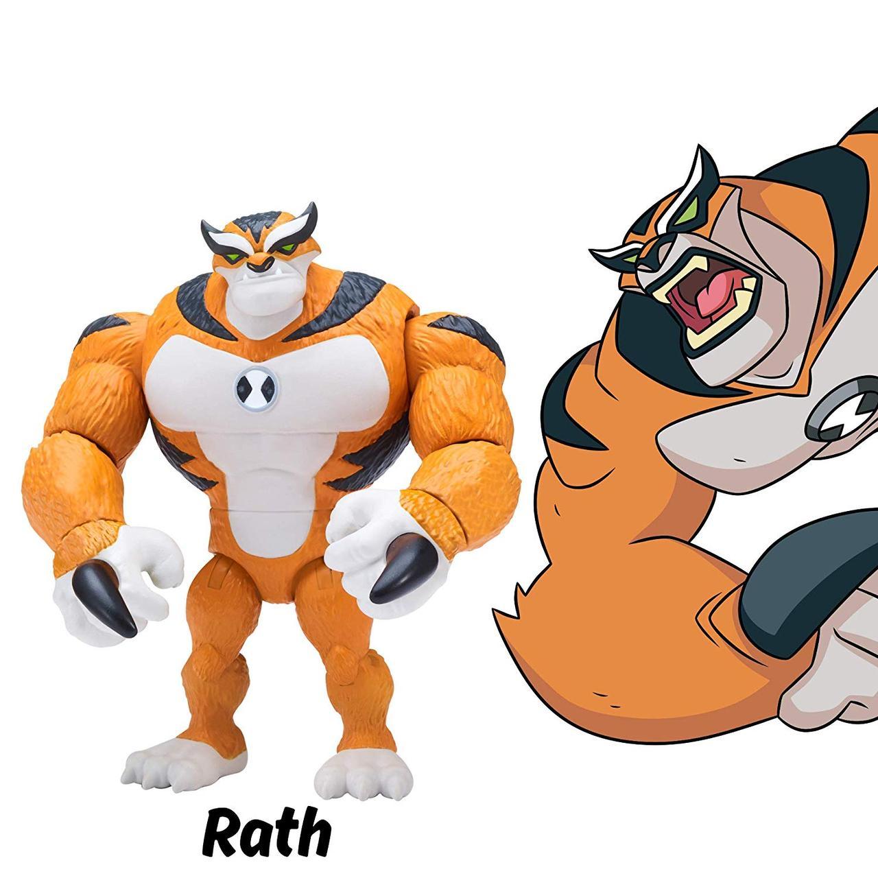 Фигурка Бен 10, шарнирный 13 см, Кошка Рат, Рэт, Рас, Ben 10 Rath Figure, оригинал из США