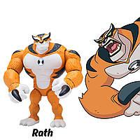 Фигурка Бен 10, шарнирный 13 см, Кошка Рат, Рэт, Рас, Ben 10 Rath Figure, оригинал из США, фото 1