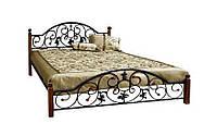 Кровать Жозефина на деревянных ножках, фото 1