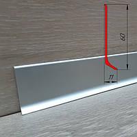 Алюминиевый плинтус ПА-6011 высота 60 мм, 2,5 м, Серебро, фото 1