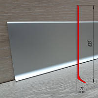 Высокий алюминиевый плинтус ПА-10011 высота 100 мм, 2,5 м, Серебро, фото 1