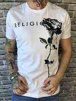 Стильная Мужская Футболка True Religion белая Топ Люкс Новинка 2019 года Тру Релиджн реплика