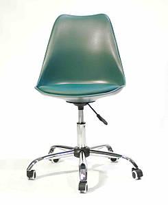 Кресло на колесах Milan  office (Милан) зеленый 02, сиденье с подушкой экокожа