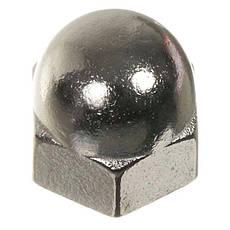 Гайка М8 колпачковая DIN 1587 оцинкована, фото 3
