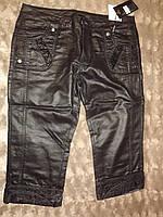 Бриджи женские джинс с напылением под кожу, фото 1