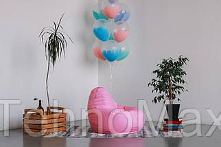 Розовое кресло-мешок груша 100*75 см из ткани Оксфорд