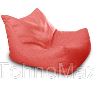 Красное бескаркасное кресло-лежак из микро-рогожки