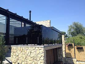 Стеклянные ограждения для террасы и балкона, террасное перила из стекла, ограждения для веранды и террас