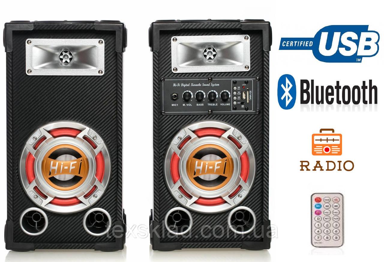 Колонки USBFM-601K-DT (USB/FM/Bluetooth/Радио)