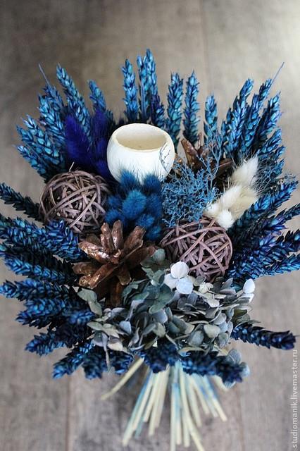 Сухоцвіти і природний матеріал(мох, сизаль, рафія, ротанг...)