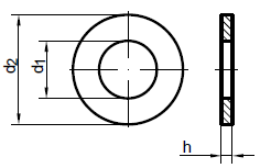 Шайба плоска M8*16 DIN 125 оцинкована, фото 3