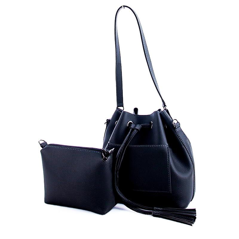 Молодежная женская сумка WeLassie 23134  2в 1, черная