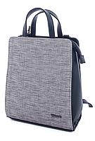 Молодежный каркасный сумка-рюкзак WeLassie 44803, серый, фото 1