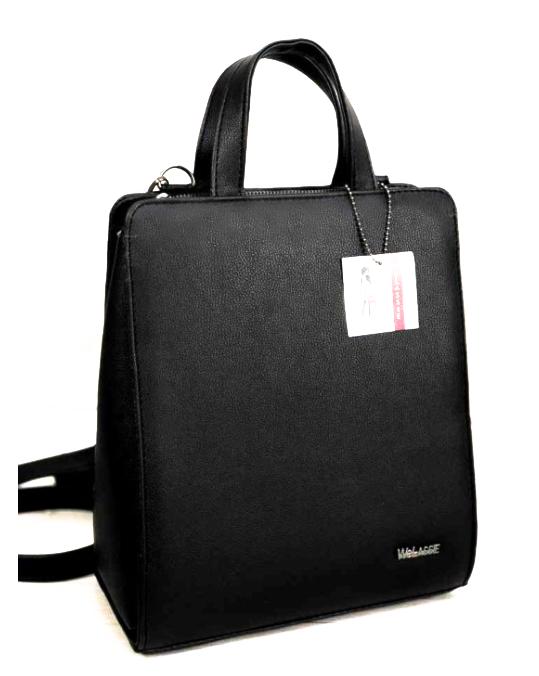 Молодежный каркасный сумка-рюкзак WeLassie 44807, черный