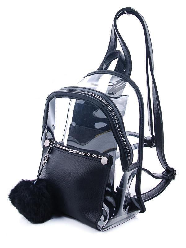 Молодежный рюкзак WeLassie 44413, черный с силиконом