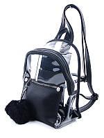 Молодежный рюкзак WeLassie 44413, черный с силиконом, фото 1