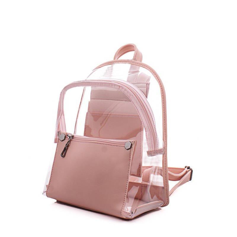 Молодежный рюкзак WeLassie 44420, пудра с силиконом