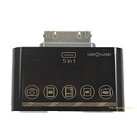 HUB LDNIO iPhone 5in1 DL-P303 black, фото 1
