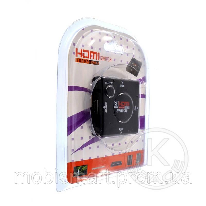 HUB HDMI 1080P 3in1 black