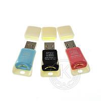 Картридер JD-T68 microSD/M2 color mix