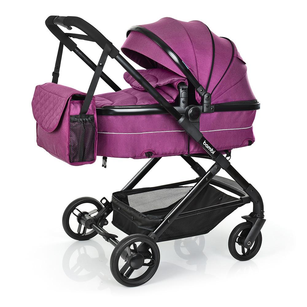 Коляска детская BAMBI Фиолетовый M 3895-9