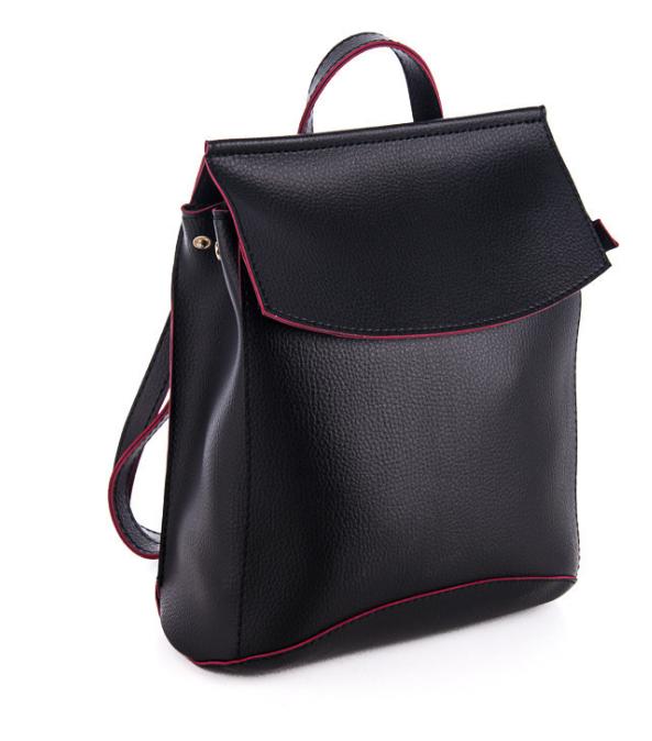 Молодежный сумка-рюкзак WeLassie 44206, черно-красный