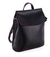 Молодежный сумка-рюкзак WeLassie 44206, черно-красный, фото 1