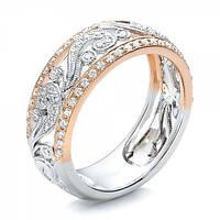 Позолоченное женское кольцо с фианитами код 1624