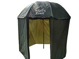 Зонт, зонт палатка, 2в1, пляжный, туристический, рыбацкий, регулируемый, надёжный, качественный, намет