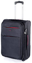 Модный тканевый средний чемодан на 2-х колесах 68 л. Puccini Camerino 5702/1 черный
