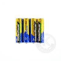 Батарейка GOLDEN POWER Long Life AAA Shrink 4 Zine-Carbon
