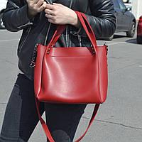 "Стильная женская повседневная сумка красная ""Аманда 2 Red"", фото 1"