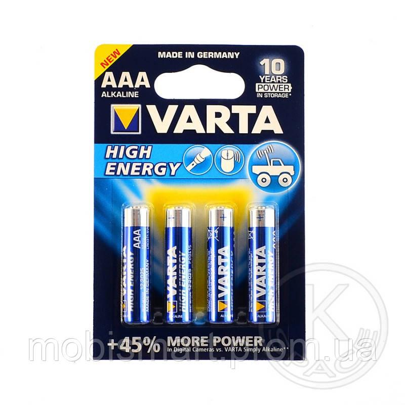 Батарейка VARTA HIGH Energy AAА BLI4 ALKALINE
