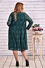 зеленый костюм двойка: платье и накидка большой роазмер | 0613-2, фото 4